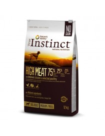 True Instinct high meat adulto pollo 12 kg.